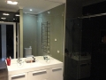 Mirror and shower splashback