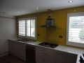 Yellow  Splashback in Kitchen