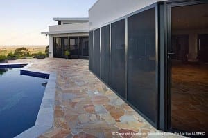 Pool and patio with Invisi-Gard screen doors
