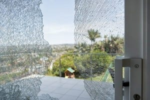 Smashed window glass 3