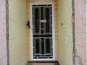 White security door colonial style