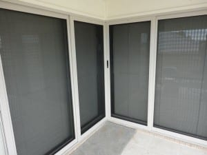 4 White security doors