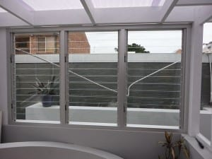 Backyard glass folding windows