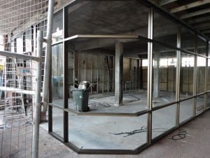 Commercial glass job