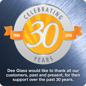 Dee Glass 30 year anniversary